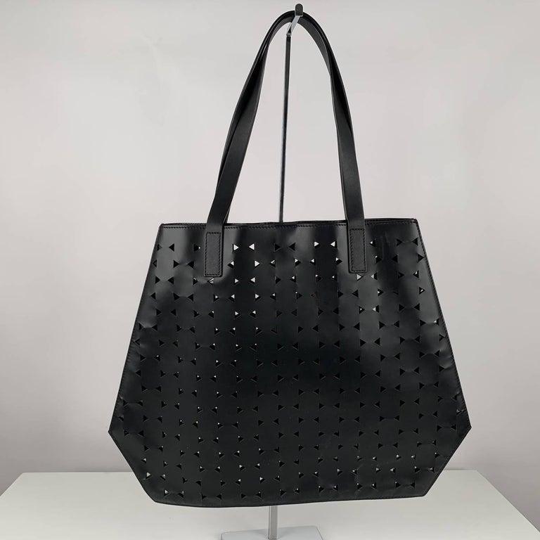 Black Desa 1972 Structurated Tote Shoulder Bag For Sale