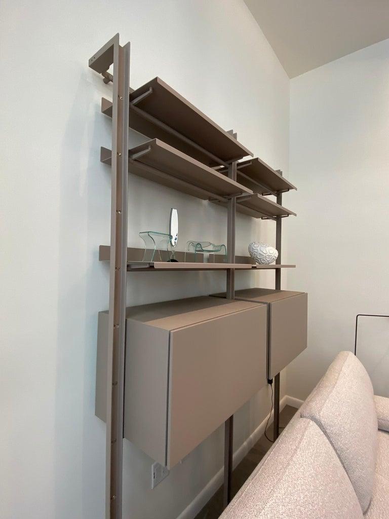 Desalto  Armida Bookcase Designed by Caronni & Bonanomi  In Excellent Condition For Sale In New York, NY