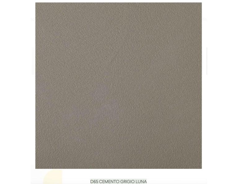 Italian Desalto Cemento Grigio Luna Oval Clay Table For Sale