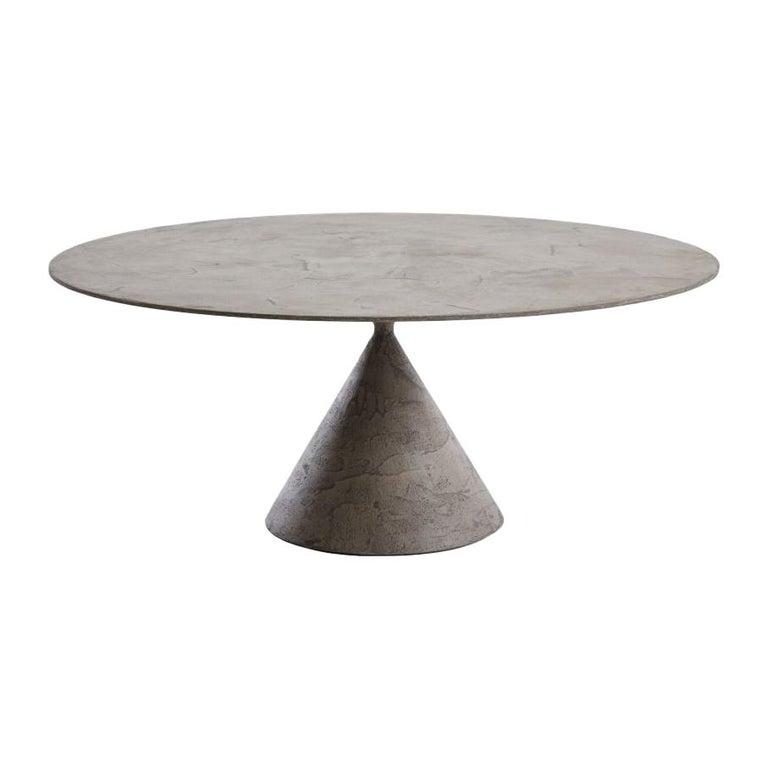 Desalto Cemento Grigio Luna Oval Clay Table For Sale