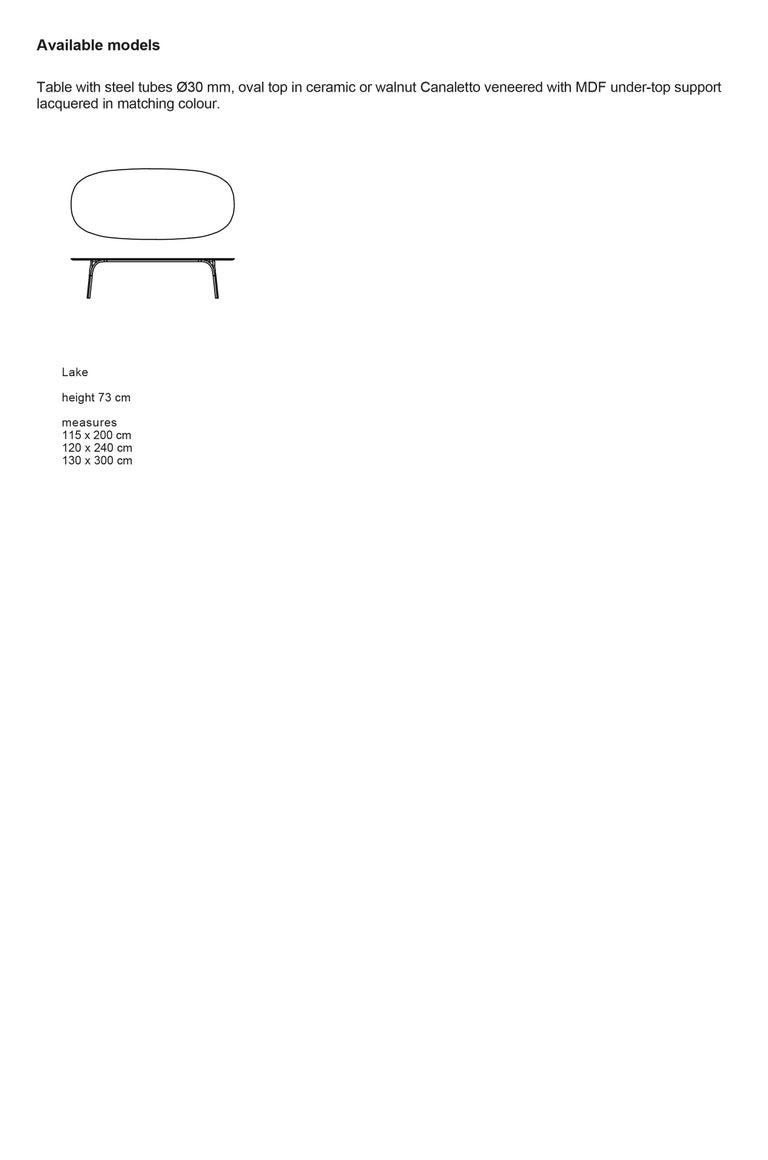 Desalto Lake Ceramic Top Table Designed by Gordon Guillaumier For Sale 6