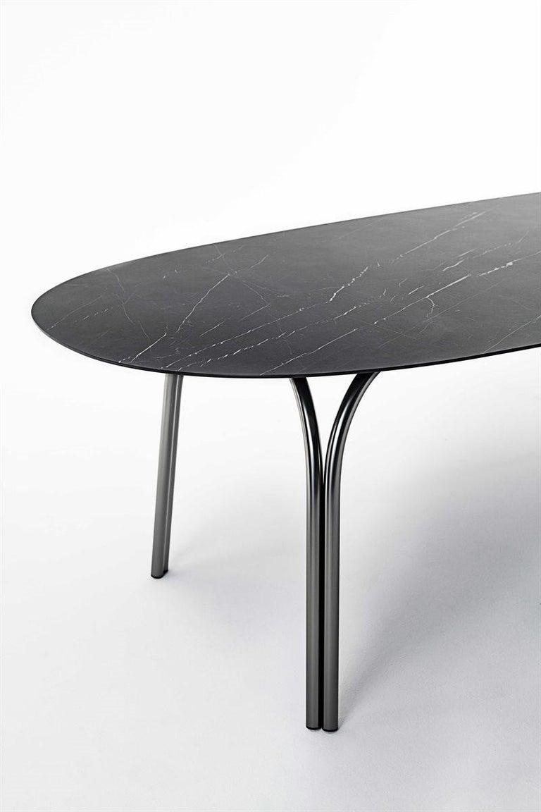 Italian Desalto Lake Ceramic Top Table Designed by Gordon Guillaumier For Sale