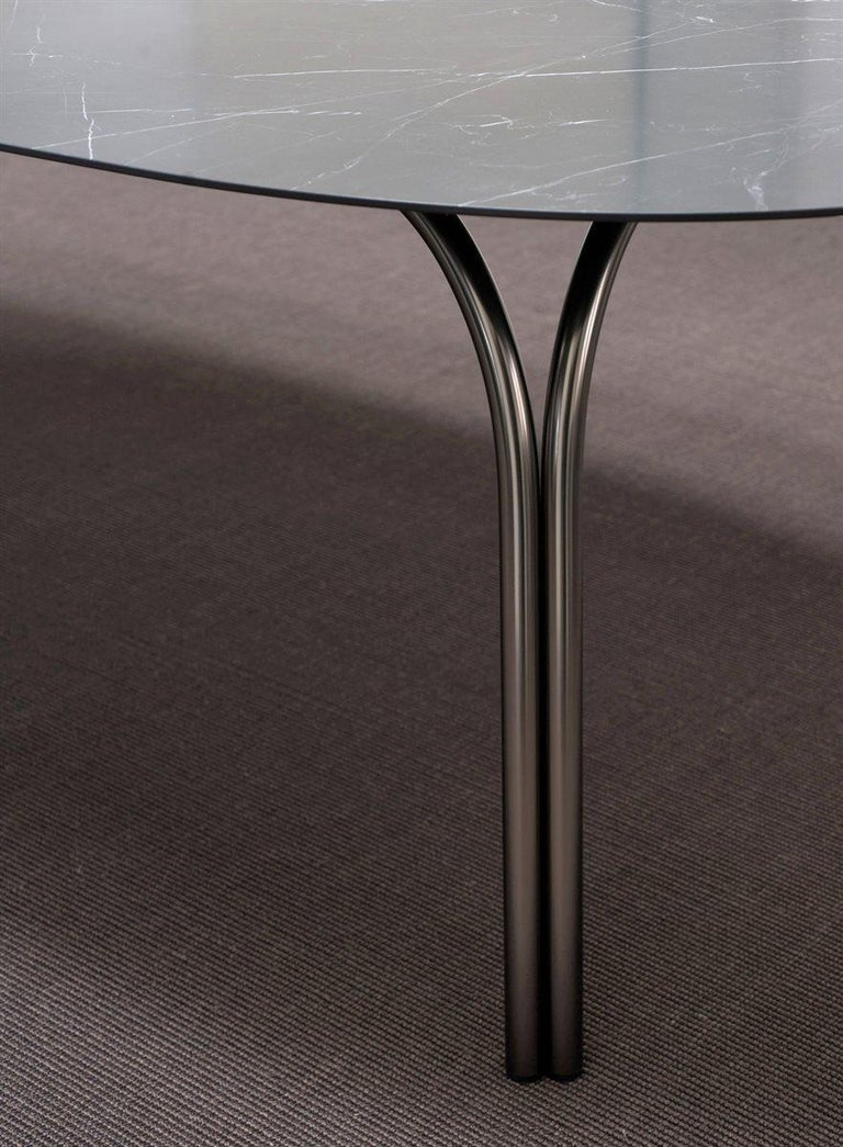 Steel Desalto Lake Ceramic Top Table Designed by Gordon Guillaumier For Sale
