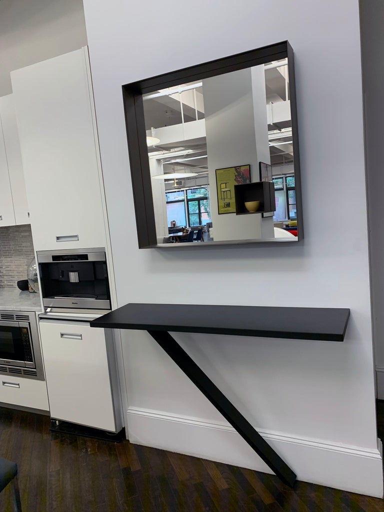Desalto Mir Brown Mirror In Excellent Condition For Sale In New York, NY