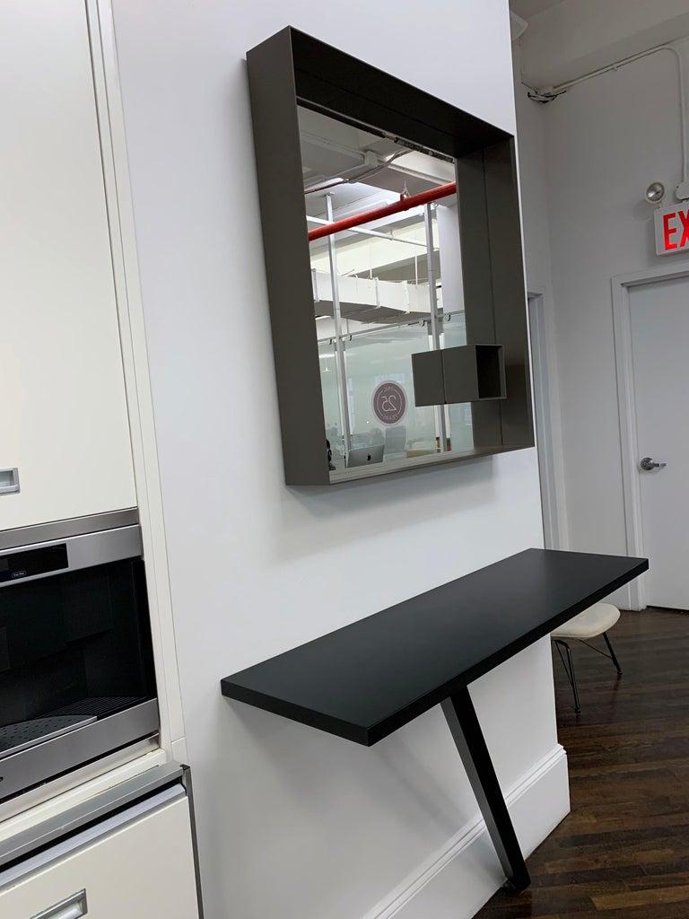 Contemporary Desalto Mir Brown Mirror For Sale