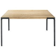 Desalto Oak Top Table Designed by Piero Lissoni
