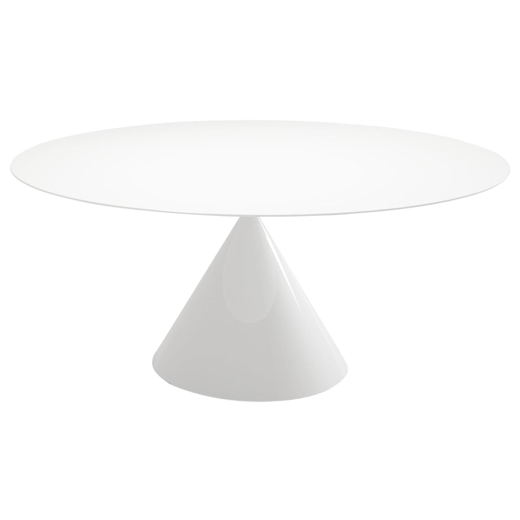Desalto Round Clay Table with Ceramic Top Designed by Marc Krusin
