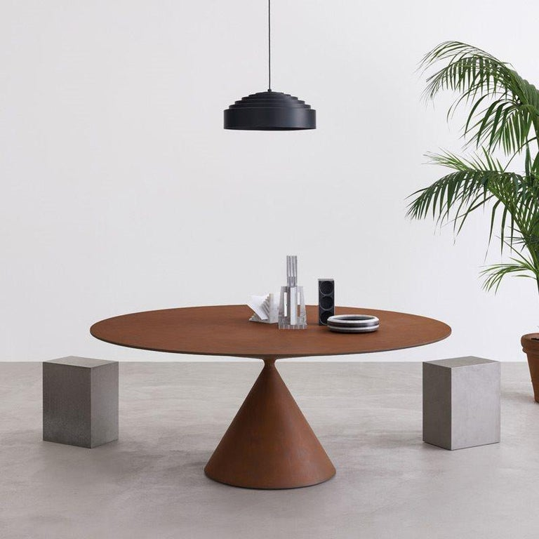 Desalto Round Clay Table with Table with Lazy Susan Flus Designed by Marc Krusin For Sale 5