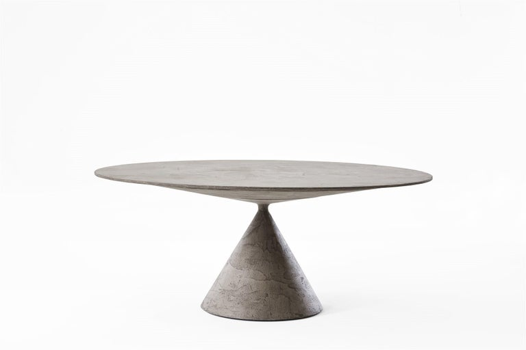 Desalto Round Clay Table with Table with Lazy Susan Flus Designed by Marc Krusin For Sale 9