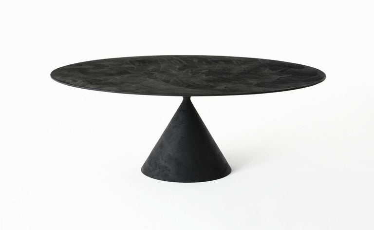 Italian Desalto Round Clay Table with Table with Lazy Susan Flus Designed by Marc Krusin For Sale