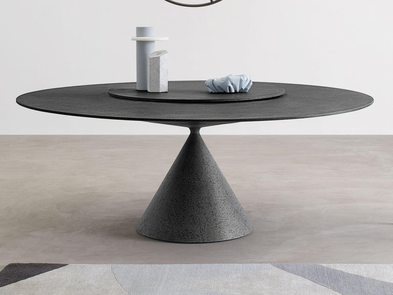 Desalto Round Clay Table with Table with Lazy Susan Flus Designed by Marc Krusin In New Condition For Sale In New York, NY