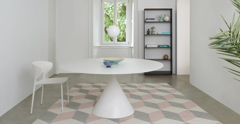 Desalto Round Clay Table with Table with Lazy Susan Flus Designed by Marc Krusin For Sale 1