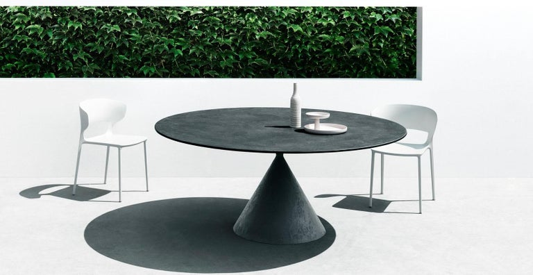 Desalto Round Clay Table with Table with Lazy Susan Flus Designed by Marc Krusin For Sale 2