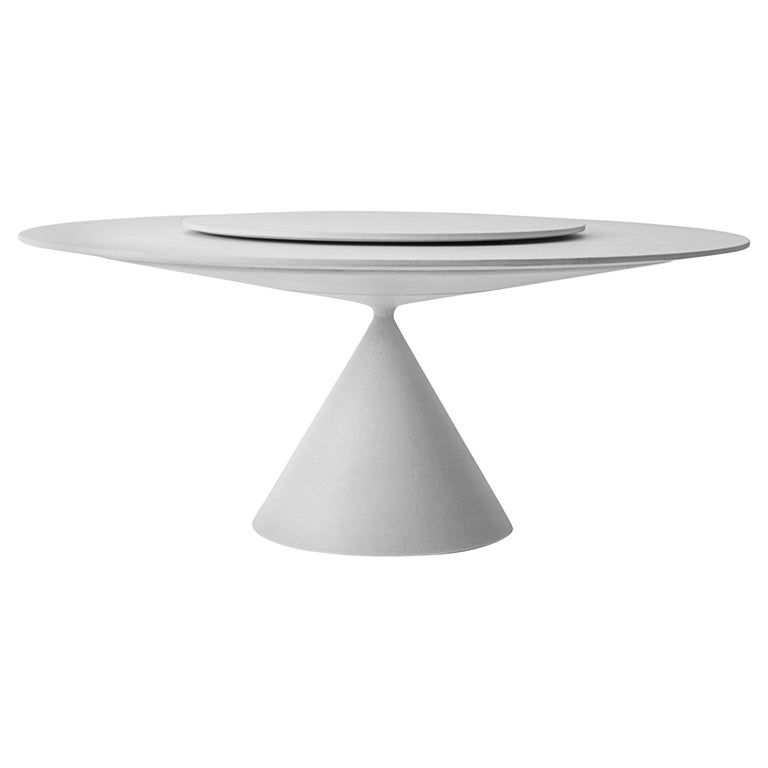 Desalto Round Clay Table with Table with Lazy Susan Flus Designed by Marc Krusin For Sale