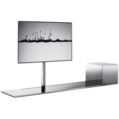 "Desalto ""Sail"" TV Stand in Polished Stainless"