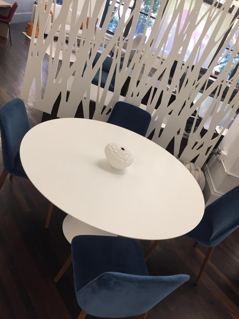 Desalto White Round Clay Table For Sale 6
