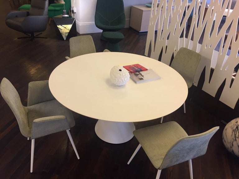 Desalto White Round Clay Table For Sale 7