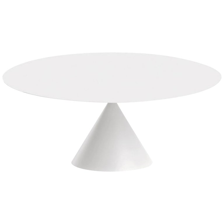 Desalto White Round Clay Table For Sale