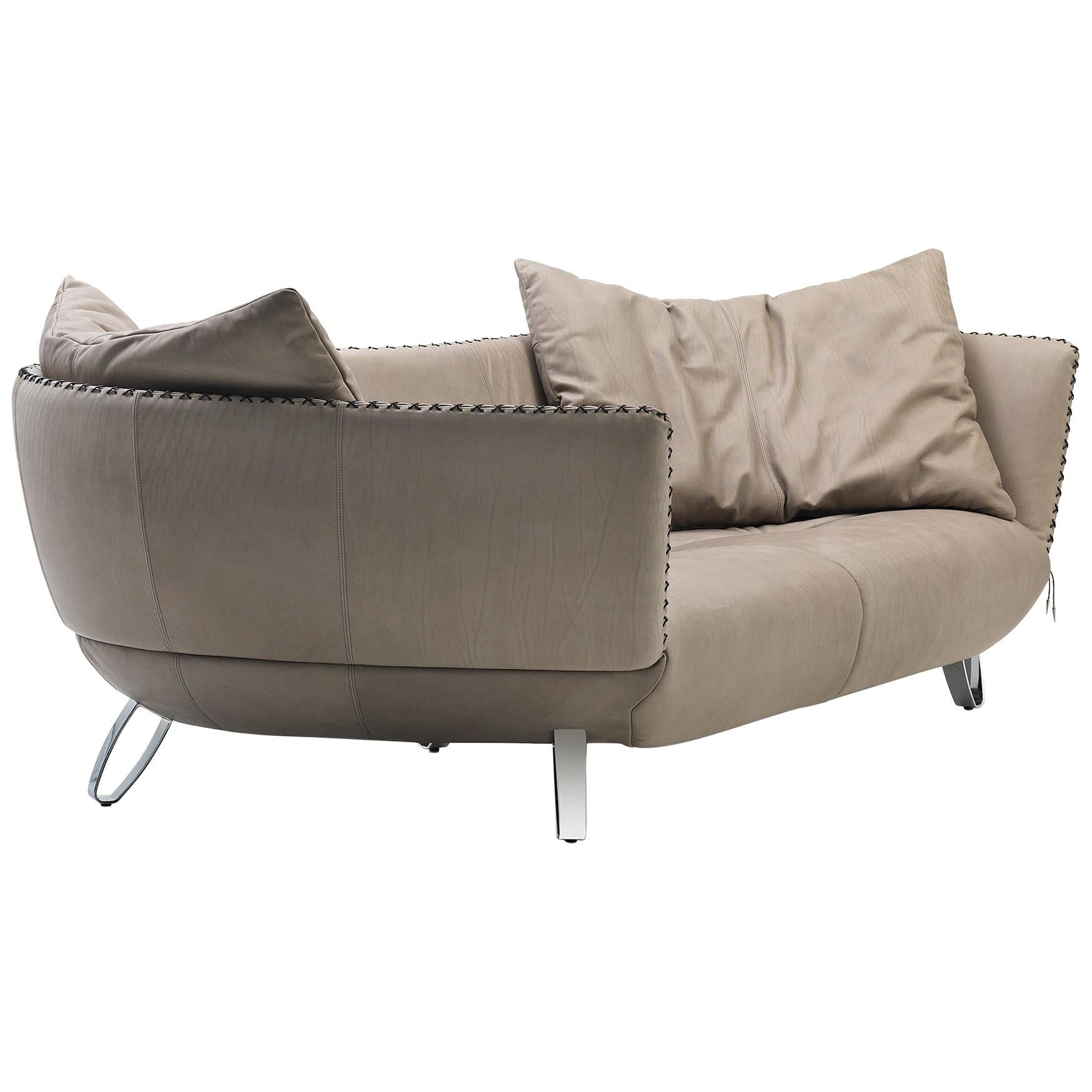 De Sede DS-102 Sofa in Taupe Upholstery by Mathias Hoffmann