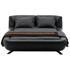 deSede DS-1164 King Size Leather Bed by Hugo de Ruiter