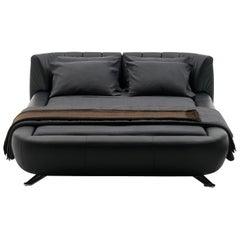 deSede DS-1164 Queen Size Leather Bed by Hugo de Ruiter