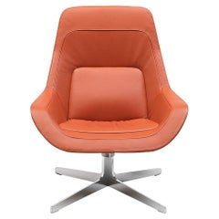 De Sede DS-144 Armchair in Maine Orange Upholstery by Werner Aisslinger