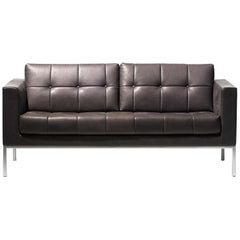 De Sede DS-159 Two-Seat Sofa in Cigarro Brown Upholstery by De Sede Design Team