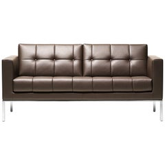 De Sede DS-159 Two-Seat Sofa in Schiefer Brown Fabric by De Sede Design Team