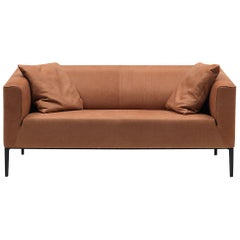 De Sede DS-161 Two-Seat Sofa in Hazel Brown Upholstery by De Sede Design Team