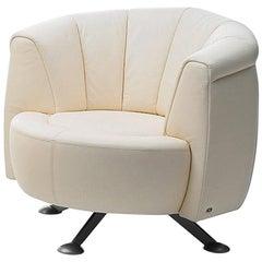 De Sede DS-164 Armchair in Off White Upholstery by Hugo de Ruiter