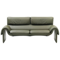 De Sede Ds-2011 Two-Seat Sofa in Jade Upholstery by De Sede Design Team