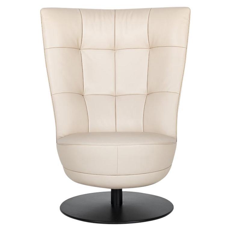 De Sede DS-262/01 Armchair in Perla Upholstery & Swivel Base by Stefan Heiliger For Sale