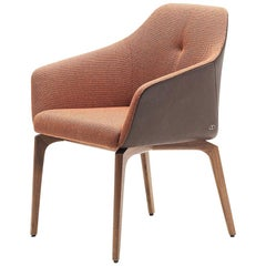 De Sede DS-279 Dinning Chair in Upholstery and Wood Legs by Christian Werner