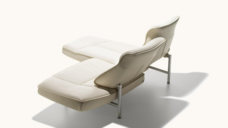 Leather De Sede DS-450/02 Sofa in Off-White Upholstery by Thomas Althaus For Sale
