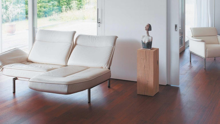 De Sede DS-450/02 Sofa in Off-White Upholstery by Thomas Althaus For Sale 1