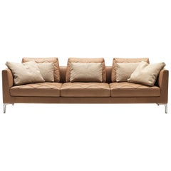 De Sede DS-48 Three-Seat Sofa in Nougat Upholstery by Antonella Scarpitta
