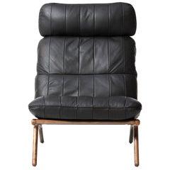De Sede DS 531 Chair without Armrest in Black Upholstery by De Sede Design-Team
