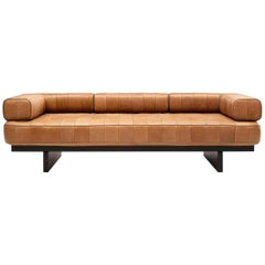 De Sede DS 80 Three-Seat Sofa in Nougat Upholstery by De Sede Design Team