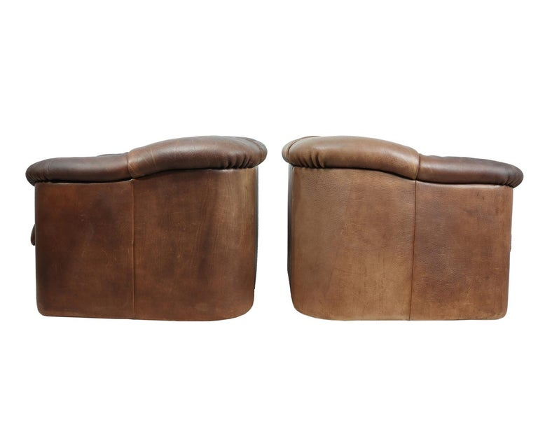 DeSede DS45 Chairs in Brown Neck Leather For Sale 2
