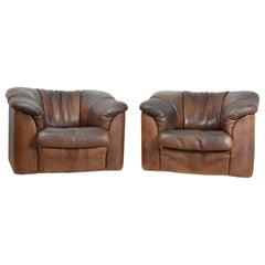 DeSede DS45 Chairs in Brown Neck Leather