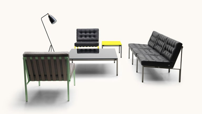 Modern De Sede KT-221 Table in Yellow Upholstery by Kurt Thut For Sale