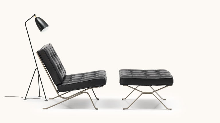 Modern De Sede RH-301 Chair in Black Upholstery by Robert Haussmann For Sale