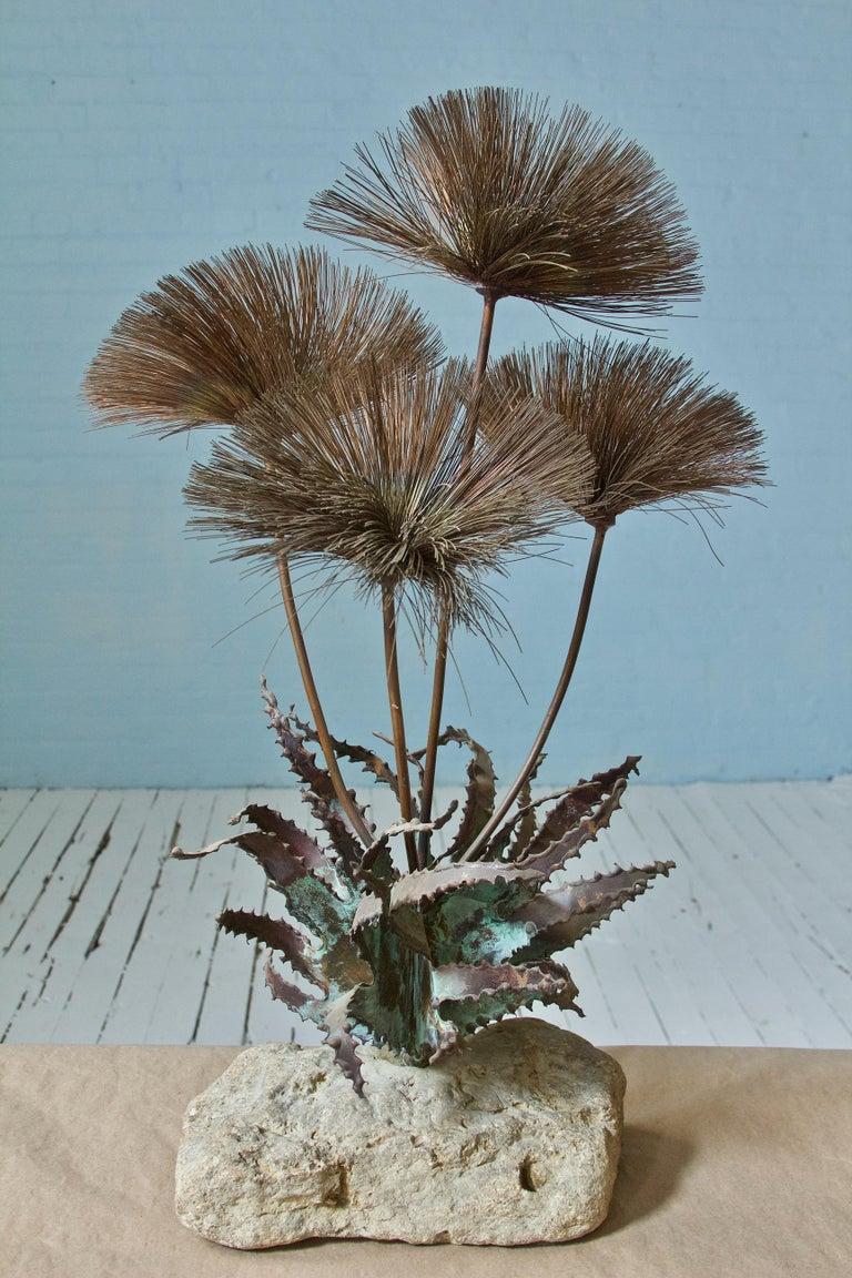 Brutalist Desert Flowers Sculpture by John Steck, 1960s For Sale