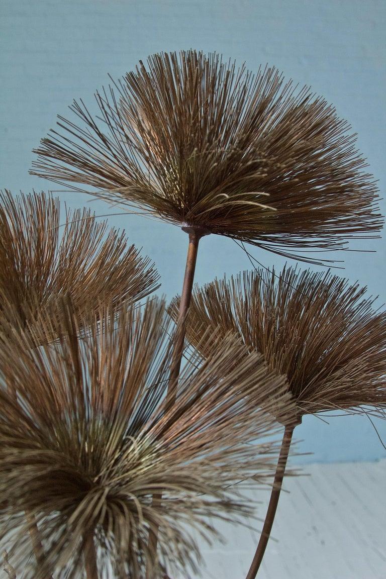 Metal Desert Flowers Sculpture by John Steck, 1960s For Sale