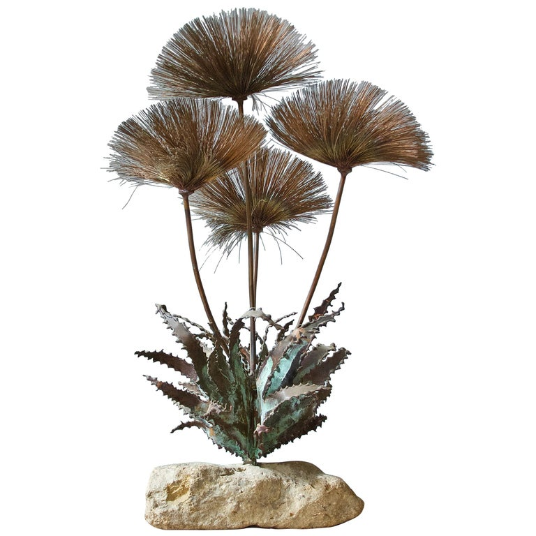 Desert Flowers Sculpture by John Steck, 1960s For Sale