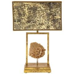 Modern Desert Rose Brass Lamp