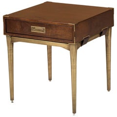Desert Side Table with Vintage Brass Finish