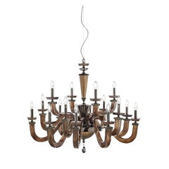 Desiderio Brown Chandelier 16 Lights