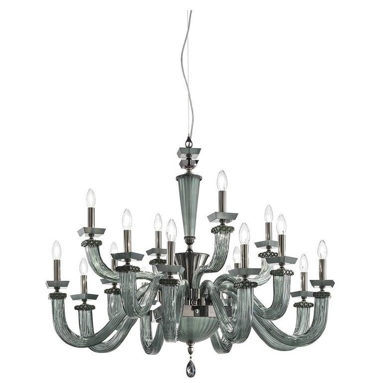 Desiderio Viridian Chandelier 16 Lights For Sale