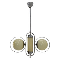 Design Bauhaus Chrome Pendant / 1930s